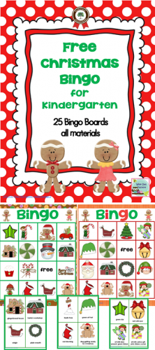 free Christmas bingo for Kindergarten