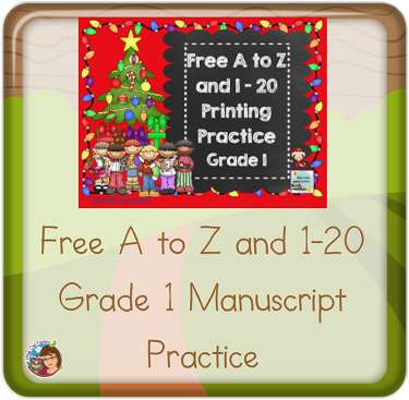 free-December-holiday-theme-manuscript-printing-practice-grade-1