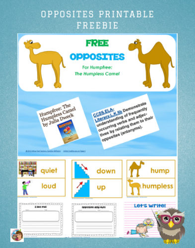 Opposites Illustrated Matching Cards Free PDF