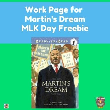 MLK-Day-printable-pages-free to accompany the book Martin's Dream