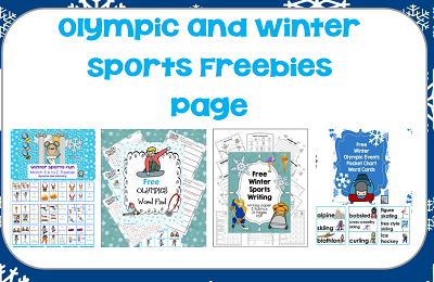 Olympic and Winter Sports Freebies Page