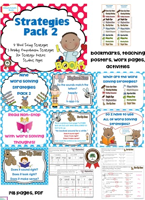 printable bookmarks and word solving posters included in this pack