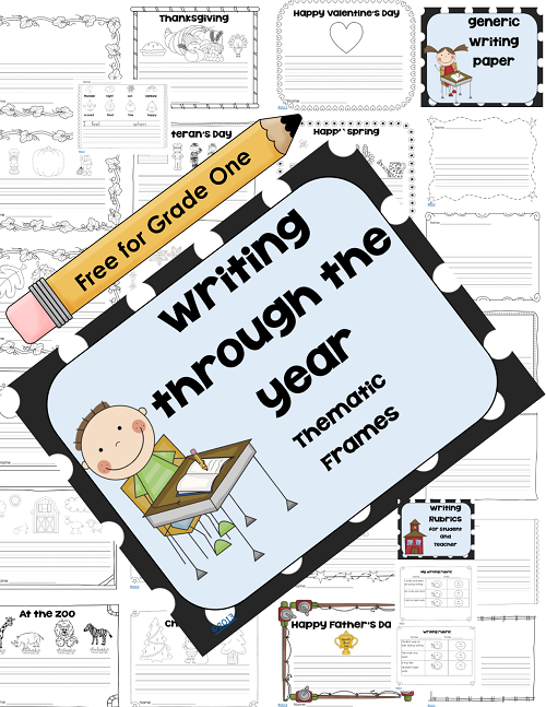 free thematic writing paper for grade one, cover photo