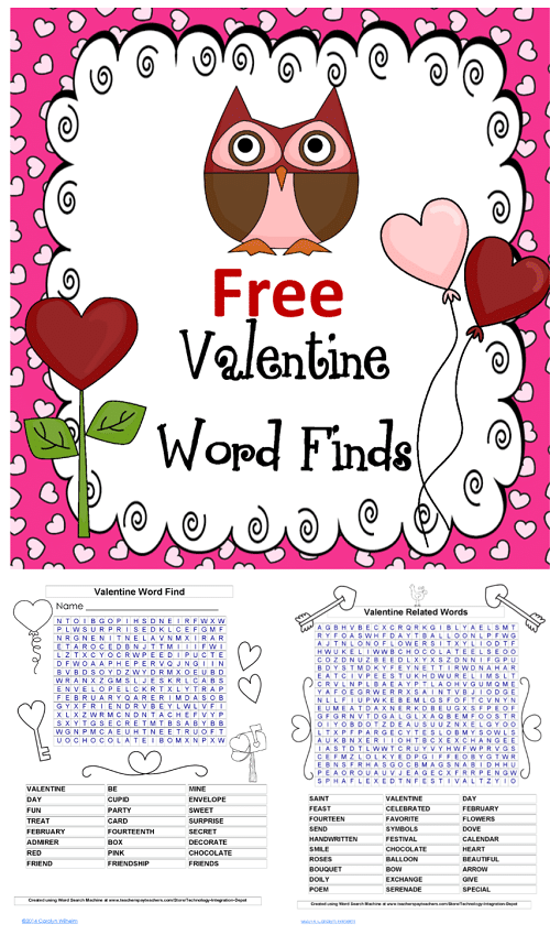 free-valentines-word-find