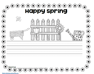 happy-spring-seasonal-writing-page-from-first-grade-year-long-writing-pack-freebie