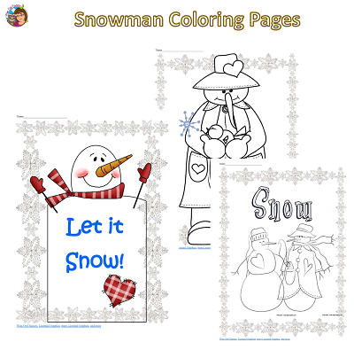 snowman coloring pages free