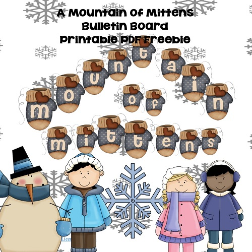 mountain-of-mittens-bulletin-board free printable