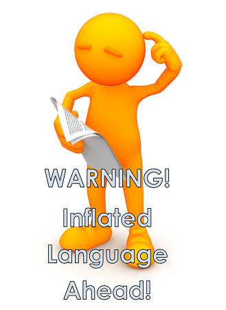 Warning! Inflated Language Ahead informational blog post