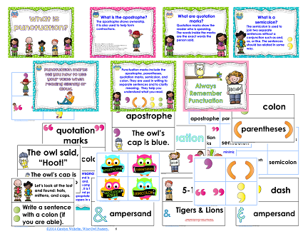 Grade 2 punctuation posters