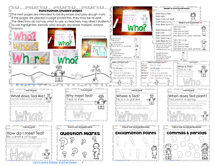 Student work activities pages collage