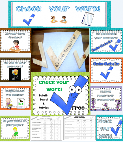 Free Check Your Work Printable Display or bulletin board