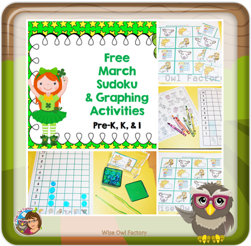 Spring Problem Solving Sudoku and Graphing Freebies