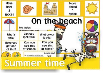 on the beach Summer-time-board-game-by-Ingles-360