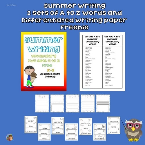Summer Writing Printable with Writing Paper PDF