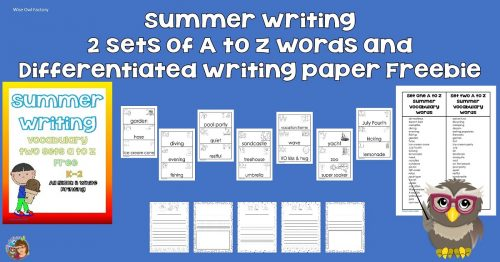 Free Summer Writing Printable with Writing Paper