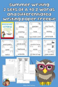 Summer-writing-a-to-z-pocket-chart-card-vocabulary-and-writing-paper-freebie