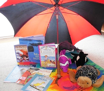 umbrella-with-books-for-indoor-or-outdoor-reading-fun