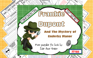 free printable for Frankie Dupont and the Mystery of Enderby Manor