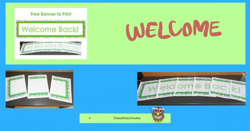 free printable welcome back banner wise owl factory