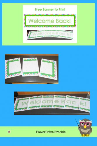 free printable welcome back banner for elementary classrooms tips on how to