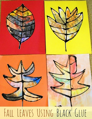 fall_leaves_using_black_glue