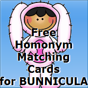 free matching cards for homonyms