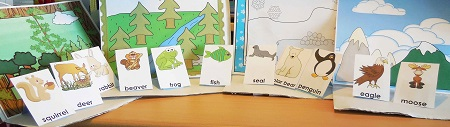 free four habitats with animals, photo of printable in use
