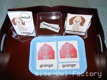 French-3-part-cards-farm-theme