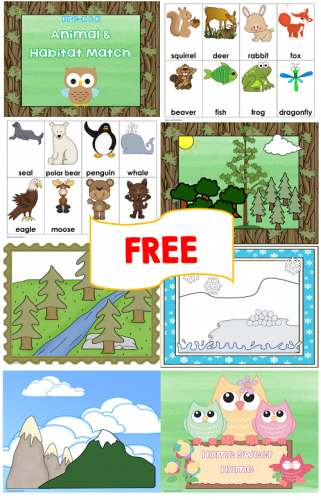 free animal-habitat-match-information-photo