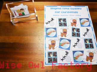 Sudoku-Christmas-puzzles-free-printable-tray-set-up-photo-of-puzzle-in-use