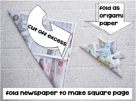 STEM newspaper-for-origami