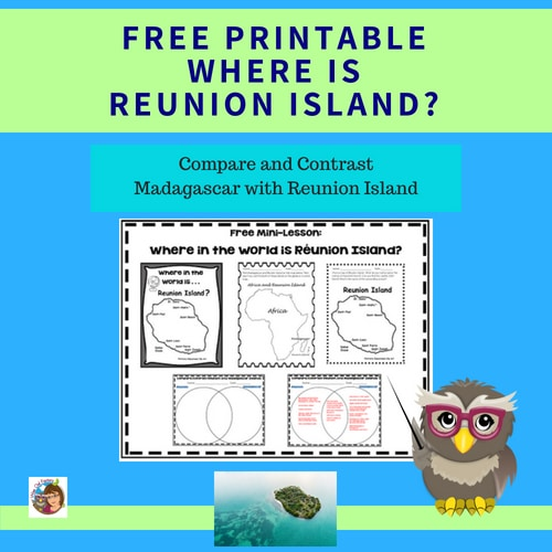 Free Where is Reunion Island Elementary Education, compare to Madagascar