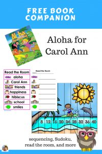 Aloha-for-Carol-Ann-book-companion-free-PDF-sequencing-Sudoku-read-the-room