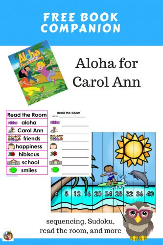 Aloha-for-Carol-Ann-book-companion-free-PDF-sequencing-Sudoku-read-the-room
