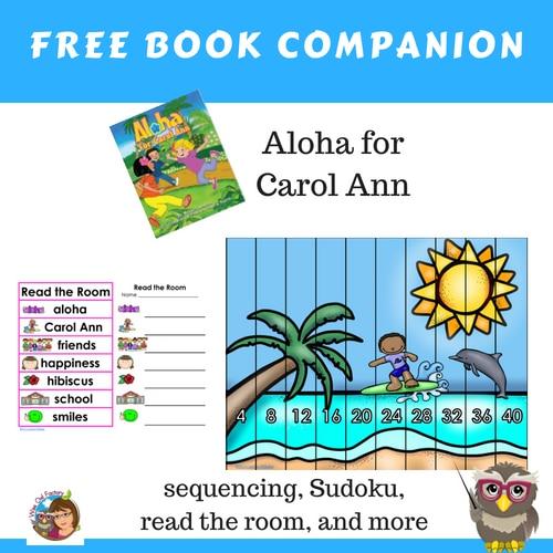 Aloha-for-Carol-Ann-book-companion-free-printable-sequencing-Sudoku-read-the-room