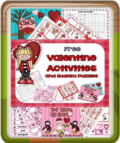 Valentine Puzzles including Sudoku free on Teachers Pay Teachers
