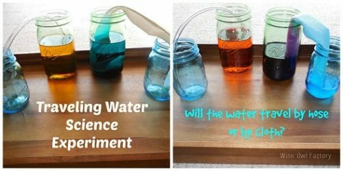traveling-water-science-experiment before and after