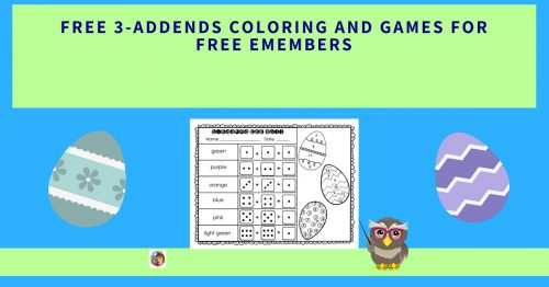 3 Addends Freebie For Emembers