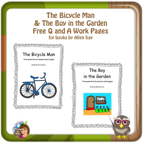 Bicycle-Man-and-Boy-in-the-Garden-free-worksheet-PDFs