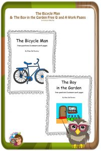 Bicycle-Man-and-Boy-in-the-Garden-free-worksheets