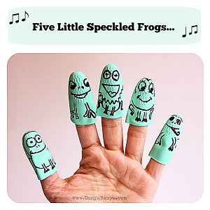 easy-five-little-speckled-frog-finger-puppets
