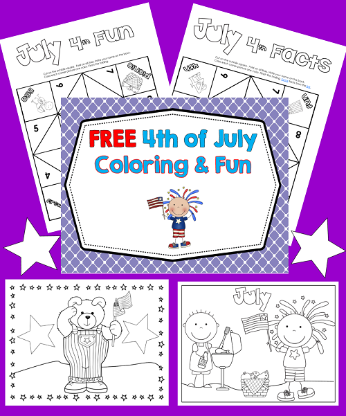 4th of July Coloring and Fun Printable