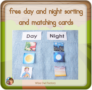 free day-and-night-sorting-matching-and-a-bedtime-box-printable