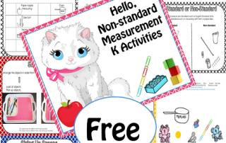 free non-standard measurement activities