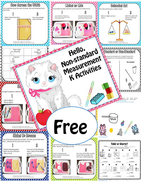 free non-standard measurement activities