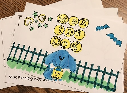 Max the Dog Goes Out on Halloween Emergent Reader