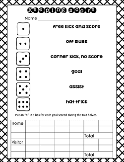 Soccer Theme Activities Free PDF