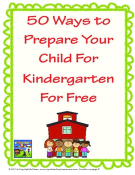 Free 50-Ways-To-Prepare-For-Kindergarten-For-Free
