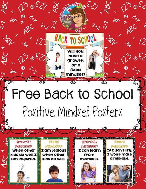 Mindset Posters for the 1st Day of School
