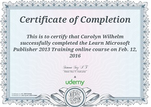 Learn Microsoft Publisher Course on Udemy